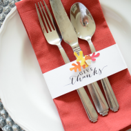 Thanksgiving Table Setting Printable
