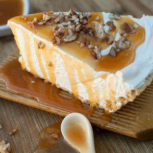 caramel-pecan-no-bake-cheesecake
