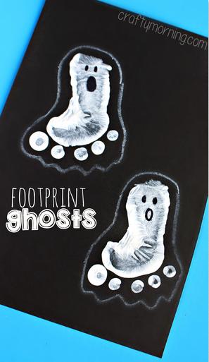 footprint-ghosts-halloween-craft-for-kids