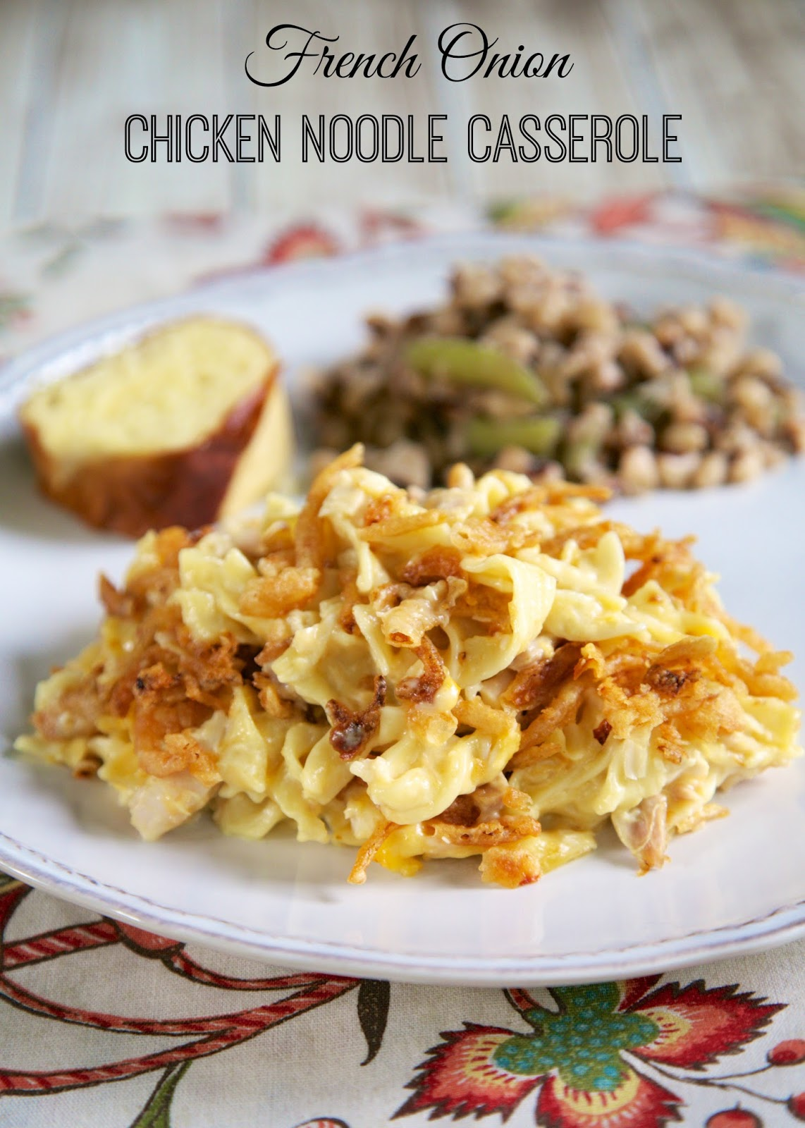 french onion chicken noodle casseroleA
