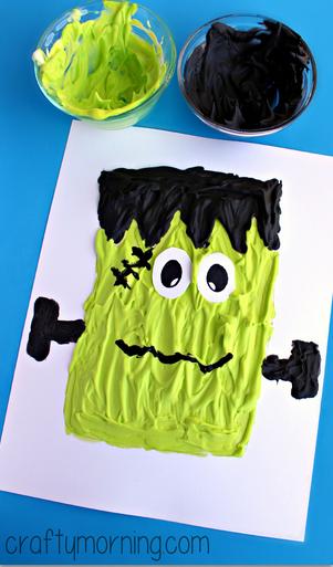 puffy-paint-frankenstein-halloween-craft-for-kids