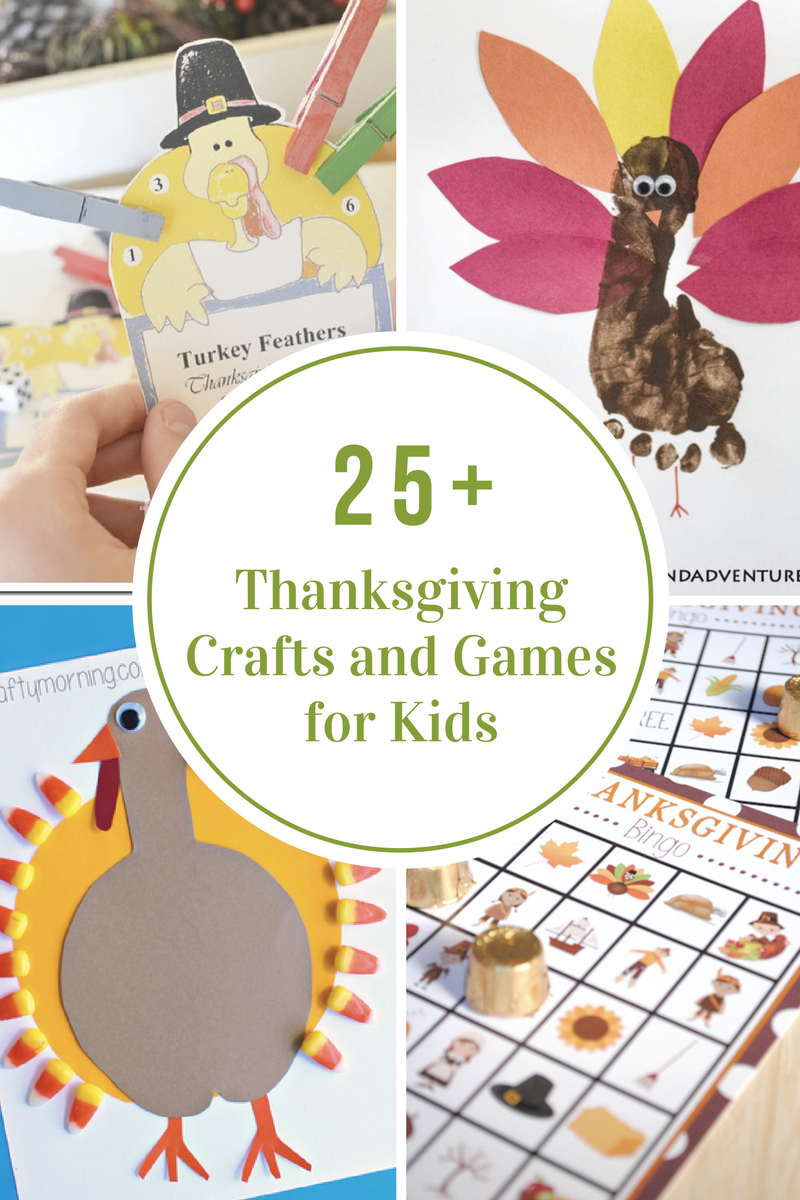 Thanksgiving crafts and games for kids the idea room for Thankful crafts for kids