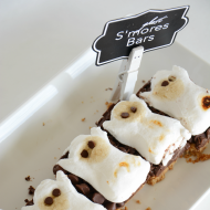 Halloween Food: Ghost S'mores Bars