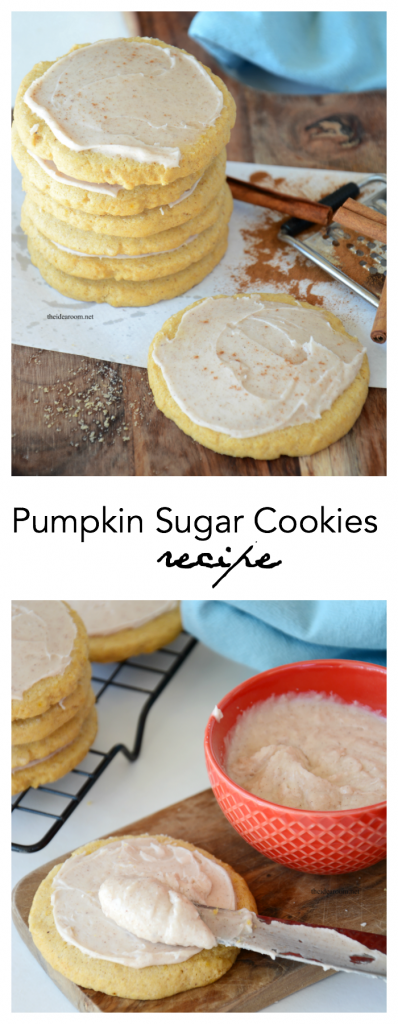 Cookie Recipes | These Iced Pumpkin Sugar Cookies are a great go to recipe for your fall baking.  Perfect mix of pumpkin and cinnamon and a hit with everyone.