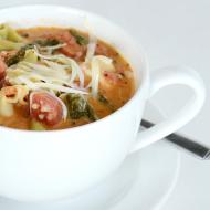 Tomato Basil Spinach Tortellini Soup