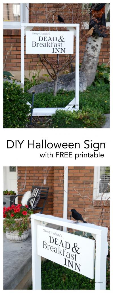 halloween sign pin
