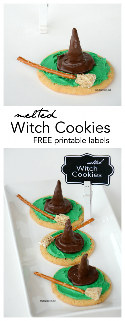 melted witch cookies pin