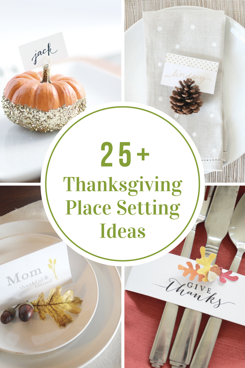 Thanksgiving place settings the idea room Cheap thanksgiving table setting ideas