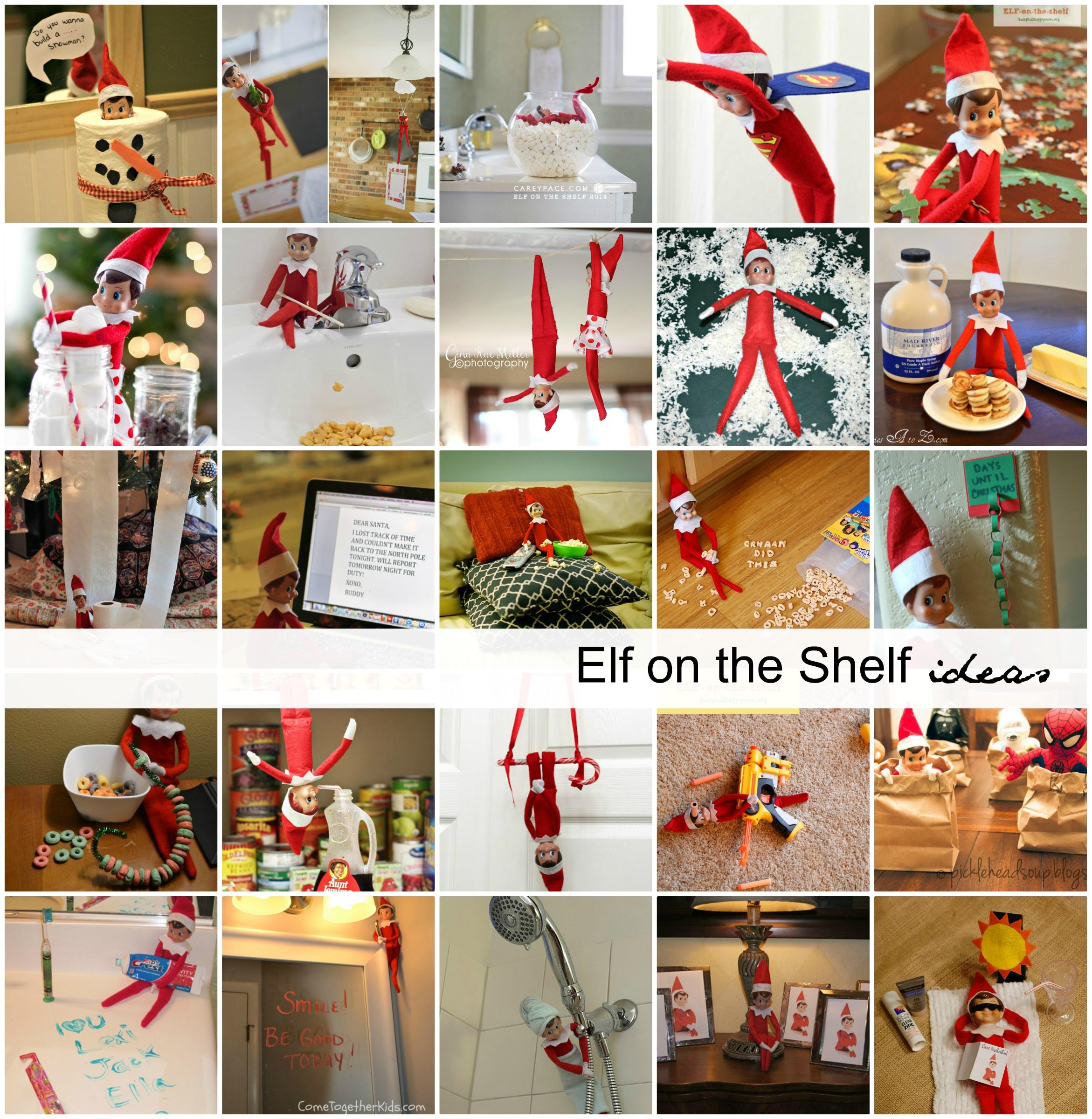 Elf-on-the-Shelf   Sharing 25 creative Elf on the Shelf Ideas that ...