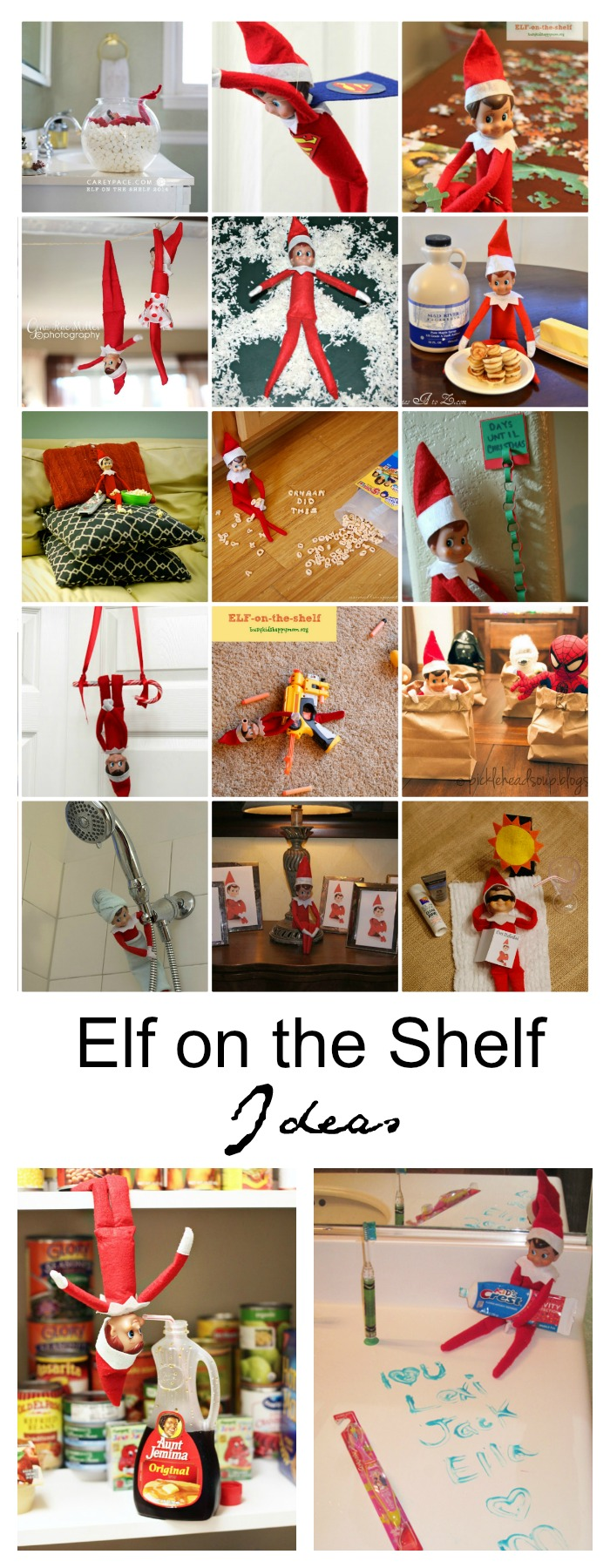 Elf-on-the-shelf-ideas | Sharing 25 creative Elf on the Shelf Ideas that your family are sure to look forward to and bring a smile to their faces each day.