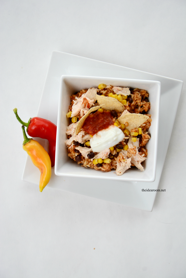 Slow Cooker Chicken Burrito Bowls 1