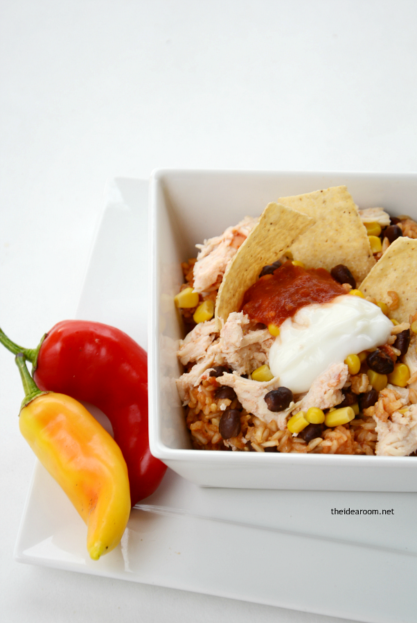 Slow Cooker Chicken Burrito Bowls 3