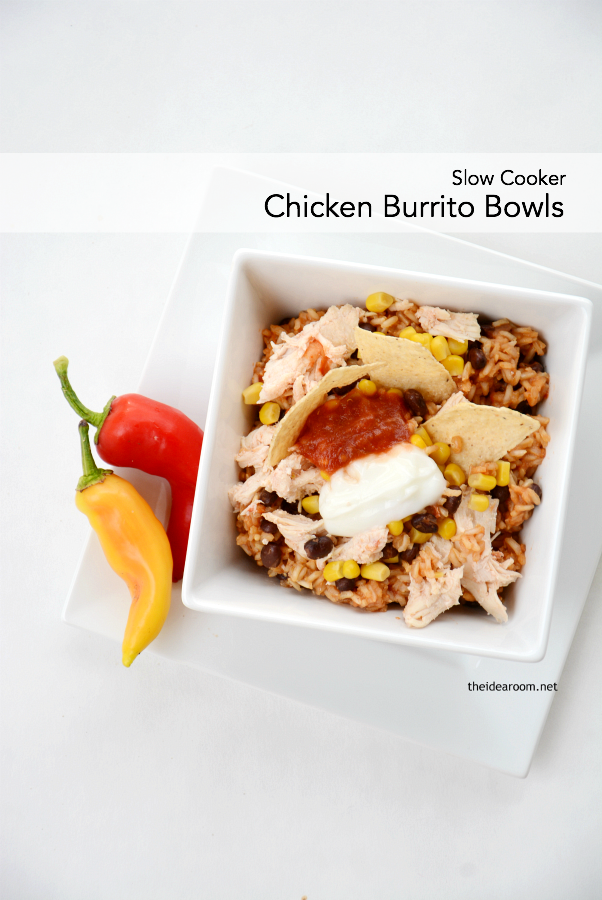 Slow Cooker Chicken Burrito Bowls cover