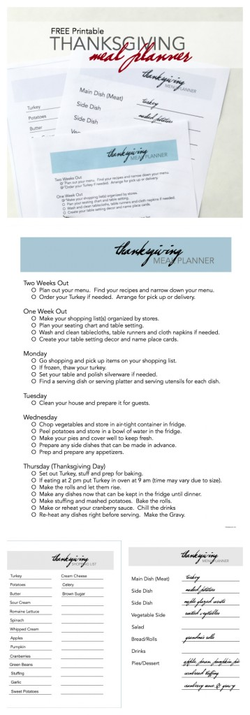 Thanksgiving Meal Planner pin