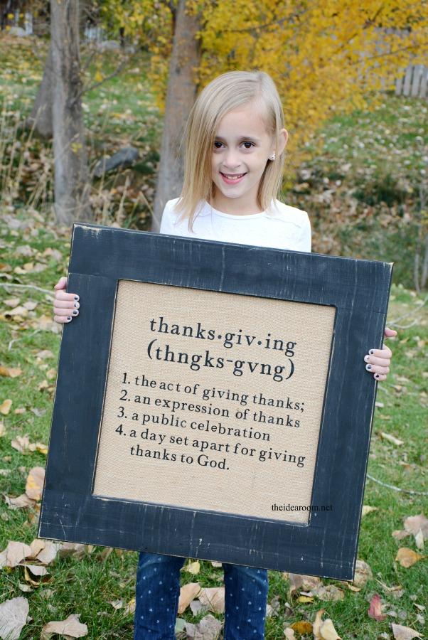 Thanksgiving Sign DIY a