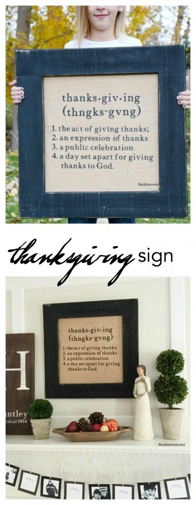 thanksgiving sign pin