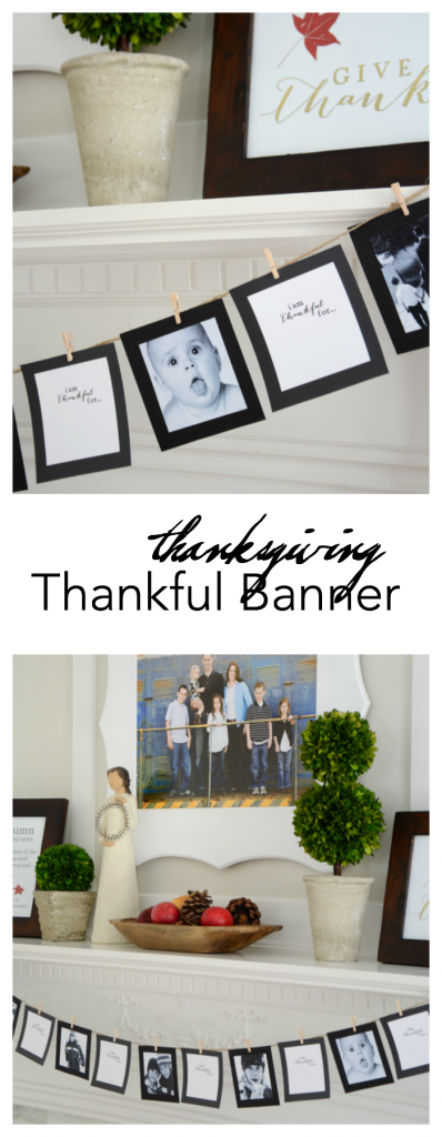 Thanksgiving | Print then cut this Thanksgiving Thankful Banner. A great way to add some Thanksgiving Decor and add meaning to your holiday.