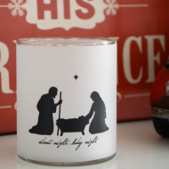Christmas Nativity Silhouette Luminary