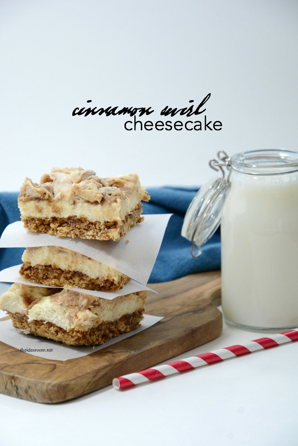 Recipes | Cinnamon Swirl Cheesecake Bars