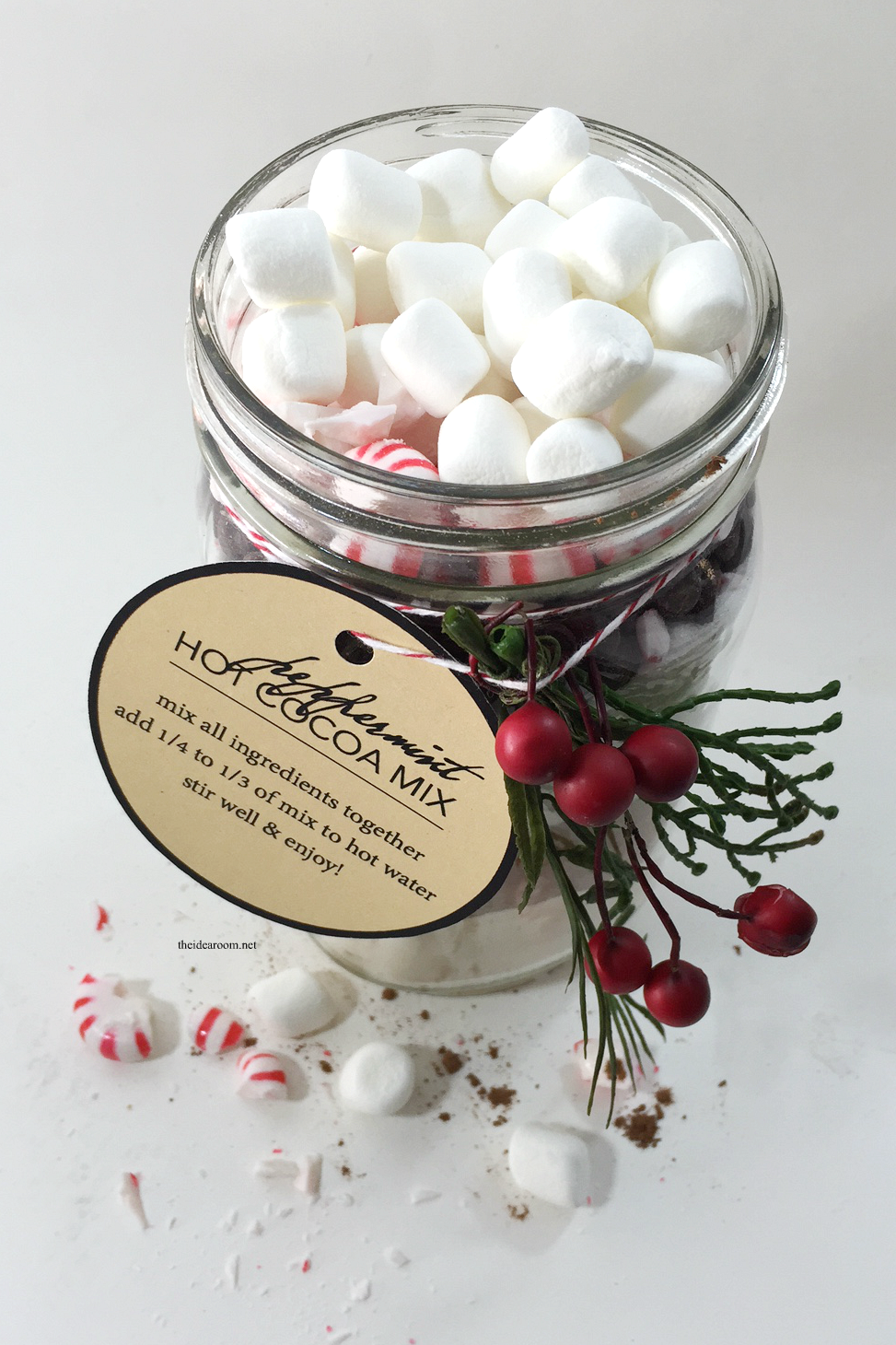 Peppermint Hot Cocoa Mix in a Jar - The Idea Room