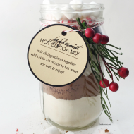Peppermint Hot Cocoa Mix in a Jar
