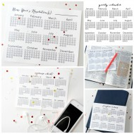 New Year's Eve Resolutions Printable Calendars