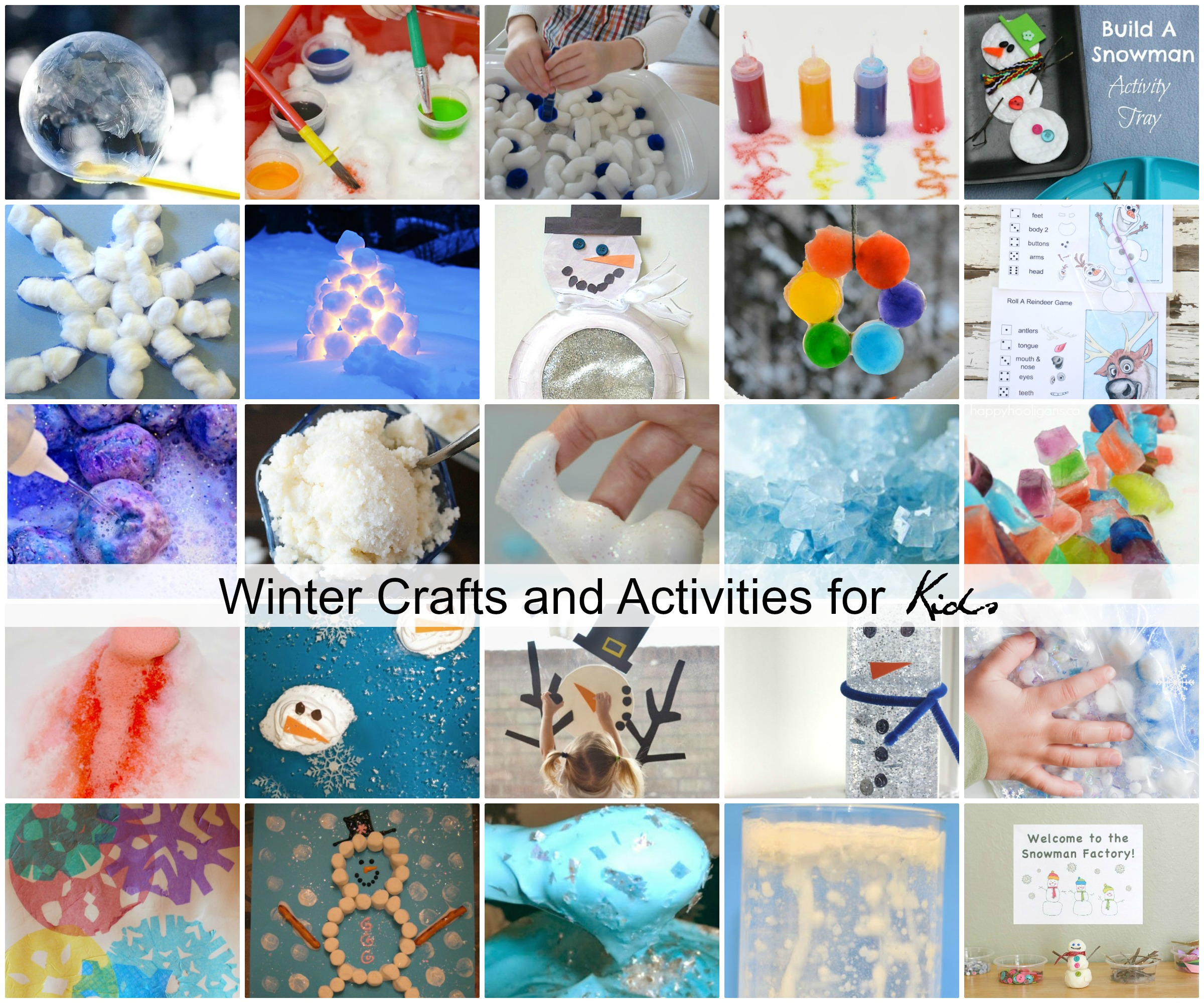 Kids Craft Room Ideas: Winter Crafts And Activities For Kids