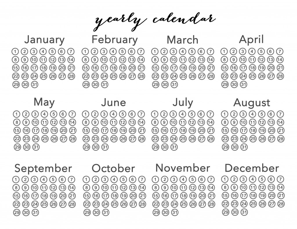 Yearly Calender