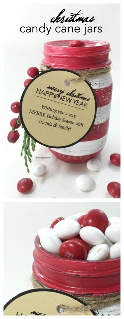 christmas candy cane jars pin