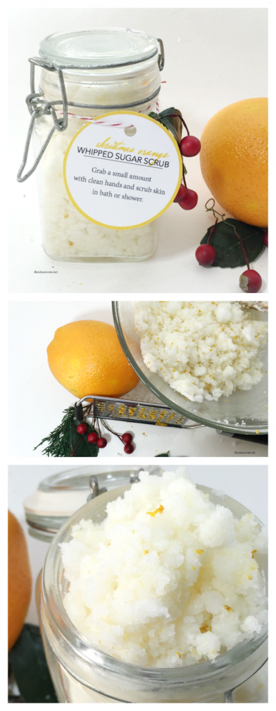 orange sugar scrub pin
