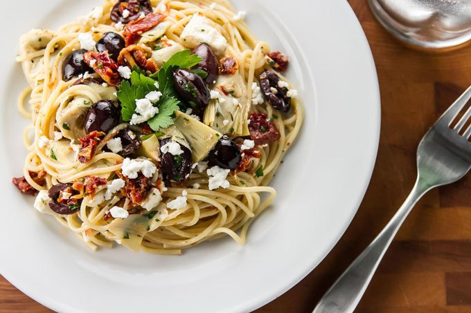 15-Minute-Mediterranean-Pasta