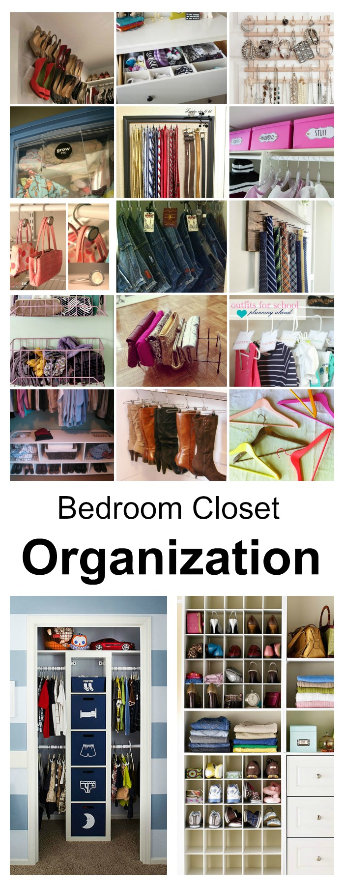 bedroom closet organization ideas pin
