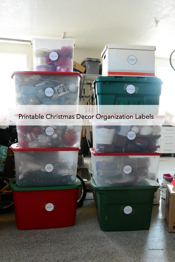 Christmas Organization Labels cover