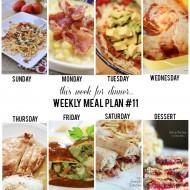 Weekly Menu Plan 11