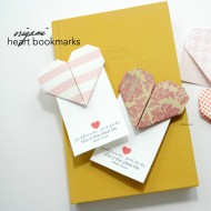 Origami Heart Valentine Bookmarks