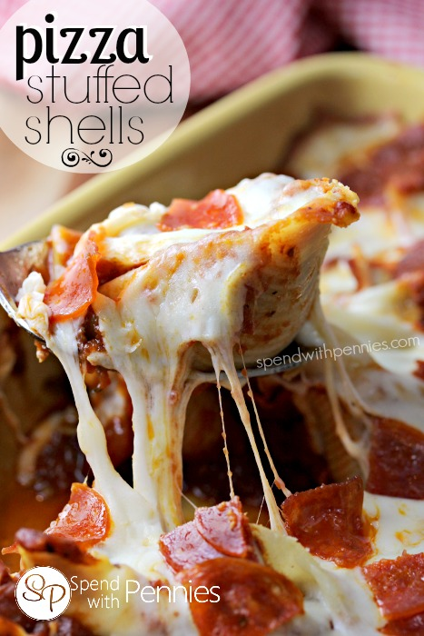 Pizza-Stuffed-Shells-Delicious-pasta-shells-stuffed-with-a-lean-beef-pepperoni-filling-and-topped-with-gooey-mozzarella-cheese