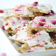Valentine's Day Saltine Cracker Toffee
