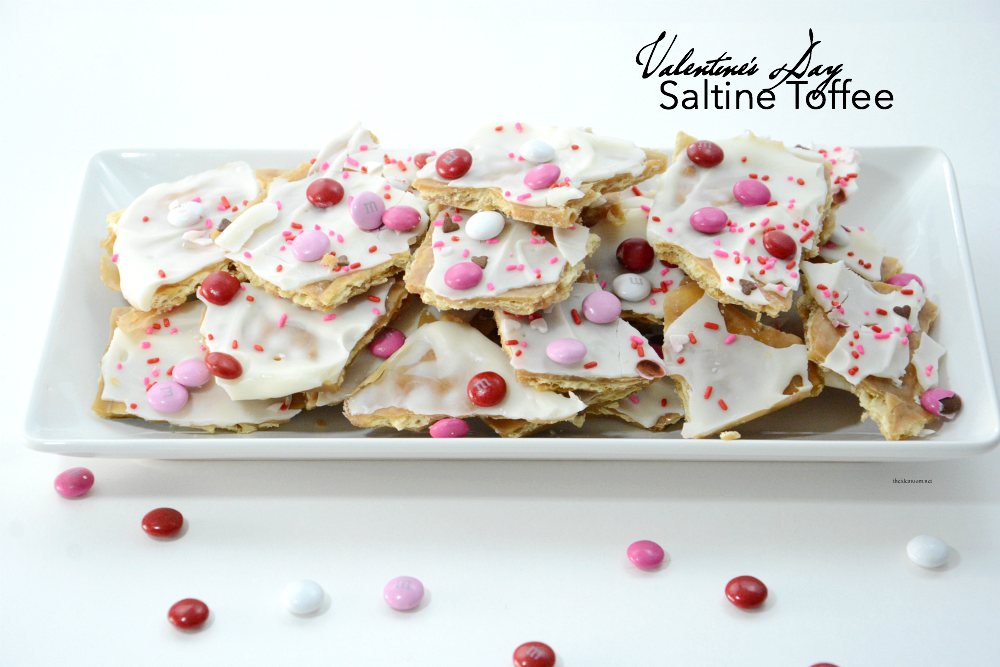 Valentine's Day | Valentine's Day | A twist on the tasty and popular Saltine Cracker Toffee perfect for Valentine's Day. Great Valentine's Day Treat or gift idea.