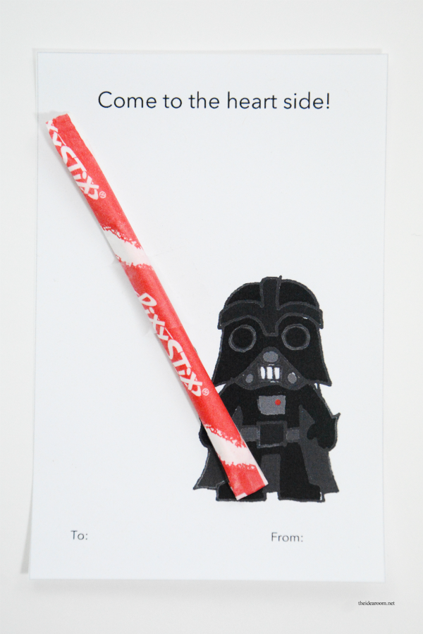 image about Printable Star Wars Images identified as Printable Star Wars Valentines - The Principle Place