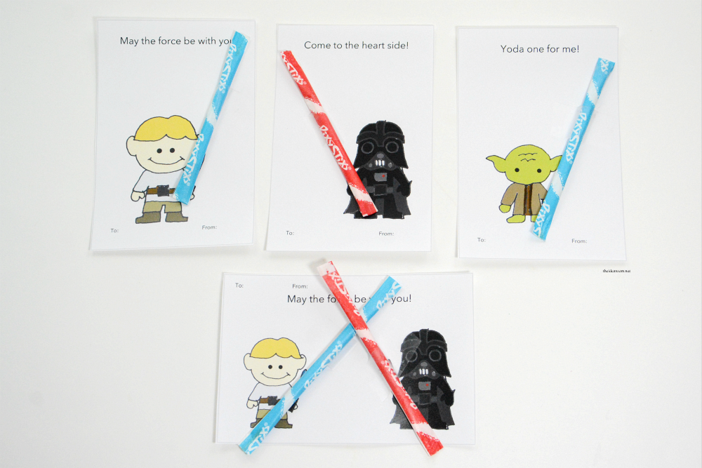 photo relating to Star Wars Printable Card known as Printable Star Wars Valentines - The Strategy Area