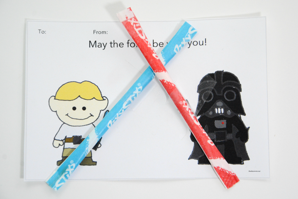 Star Wars Valentines Lightsabers