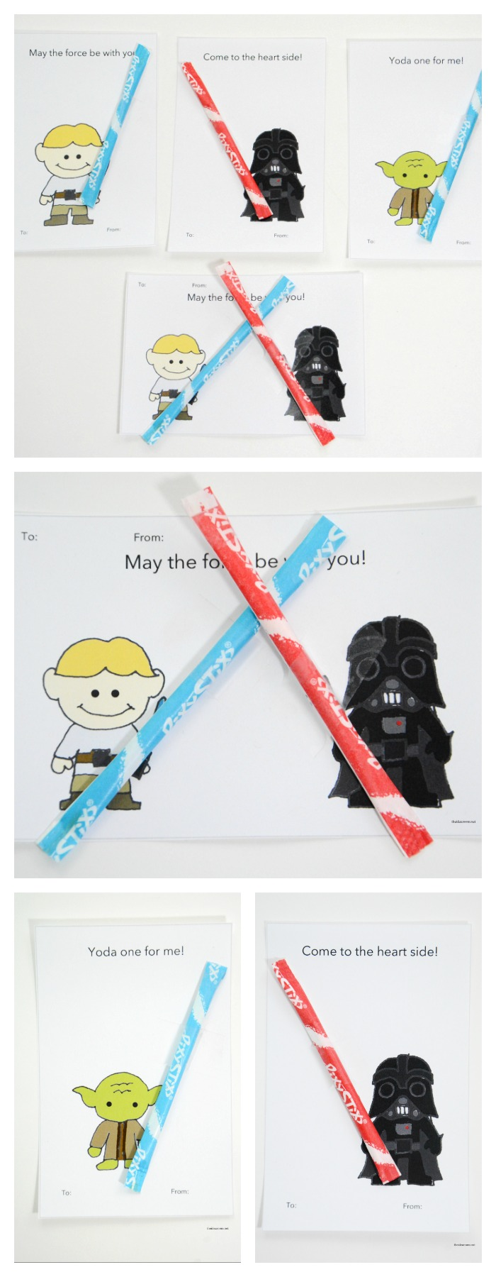image regarding Lightsaber Valentine Printable called Printable Star Wars Valentines - The Concept Space