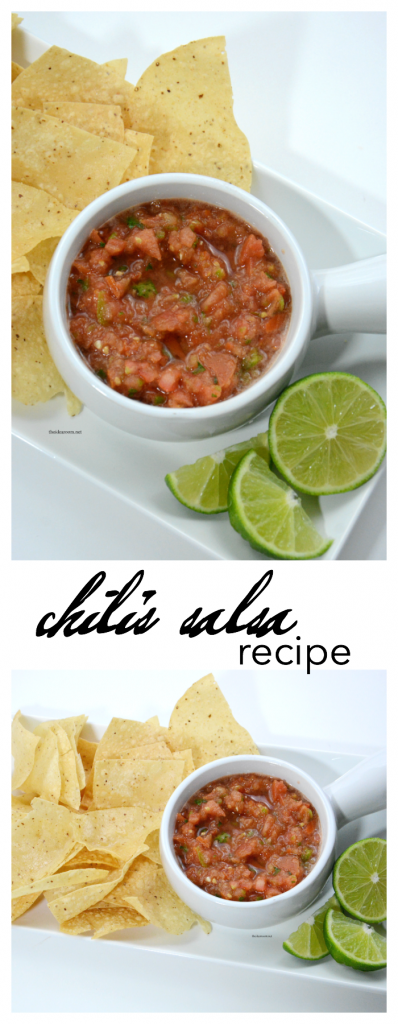 Recipes | This copycat Chili's Salsa Recipe is so good! So fast and easy to make you will never need to buy it again.