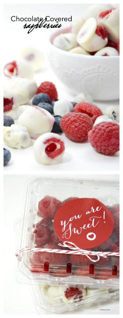chocolate raspberries pin