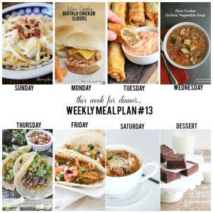 week menu 13