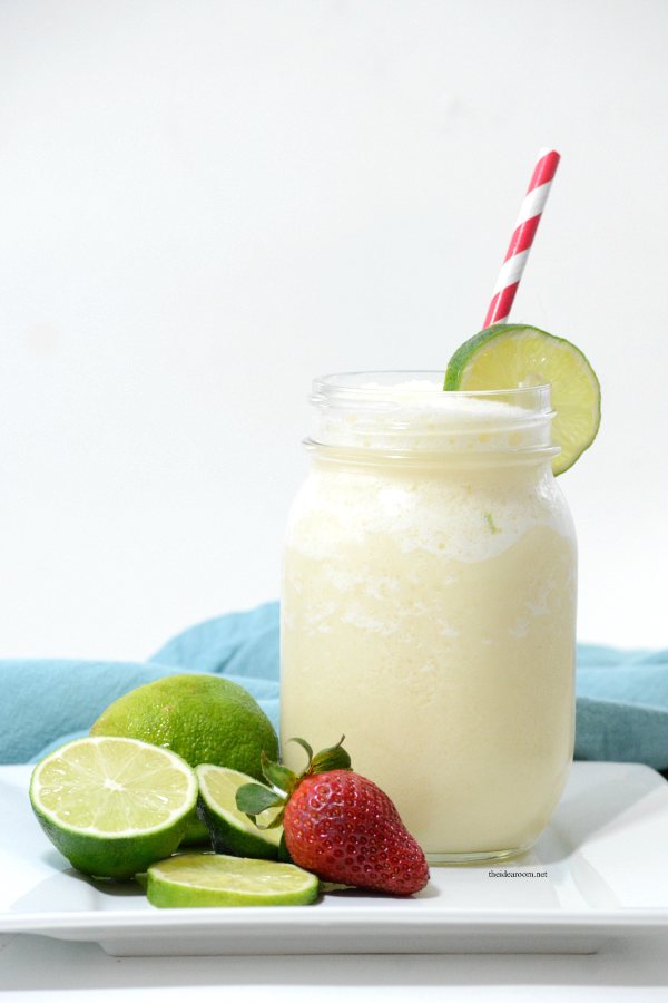 Recipes | This Frozen Brazilian Lemonade is the perfect drink for your next party or on a hot summer day. Uses fresh limes for a refreshing drink everyone will love.