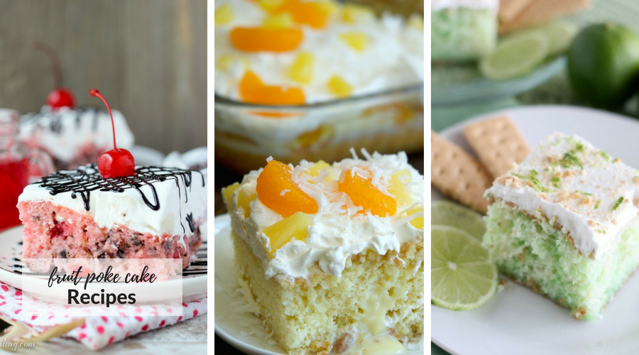 fruit poke cake recipes