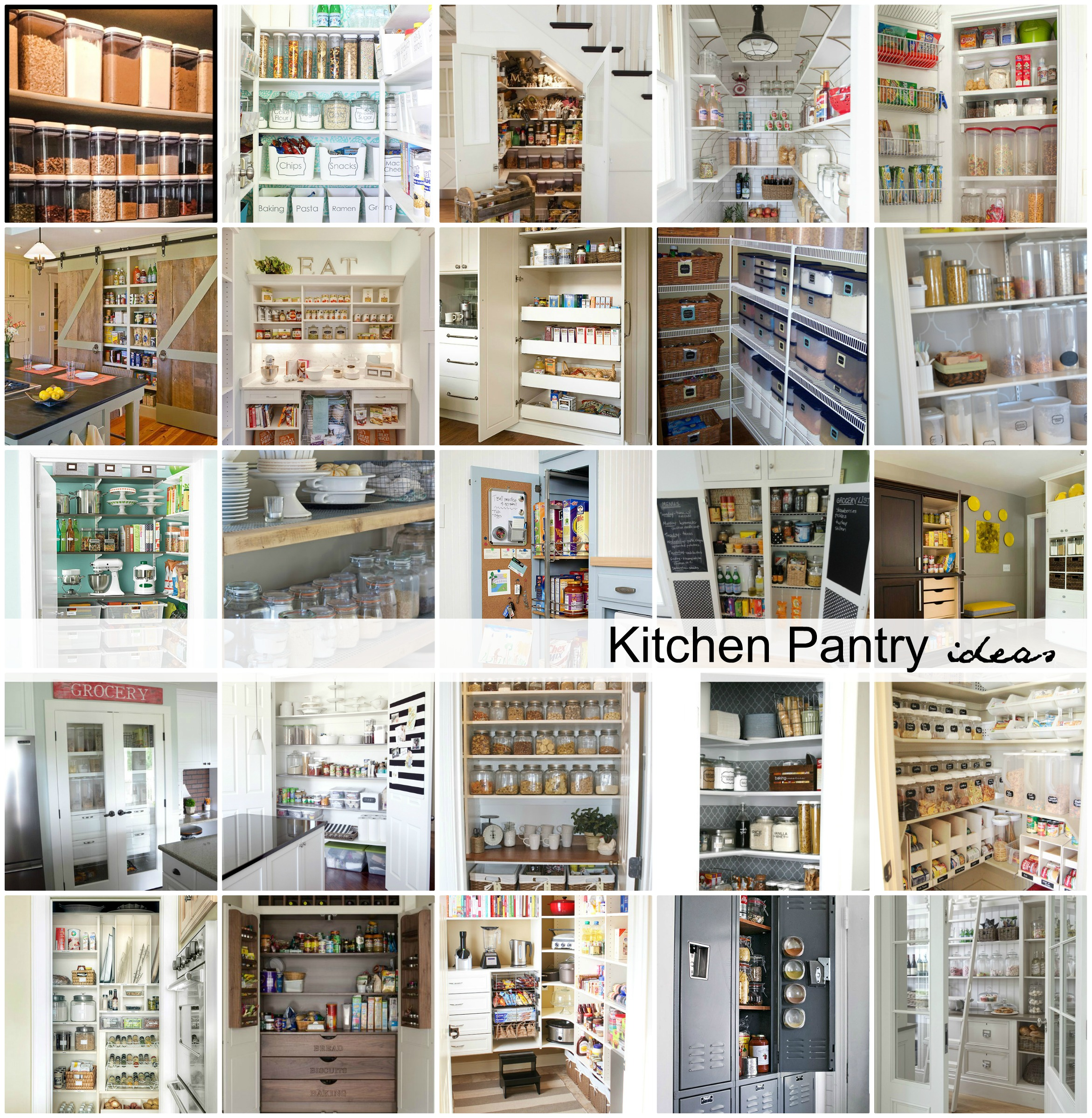 Organized kitchen pantry ideas the idea room for Kitchen pantry ideas