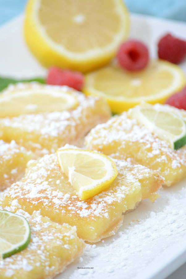 Lemon-Bars | These Lemon Bars are the perfect Spring or Summer treat. Tangy and delicious, the best lemon bar recipe we have tried.