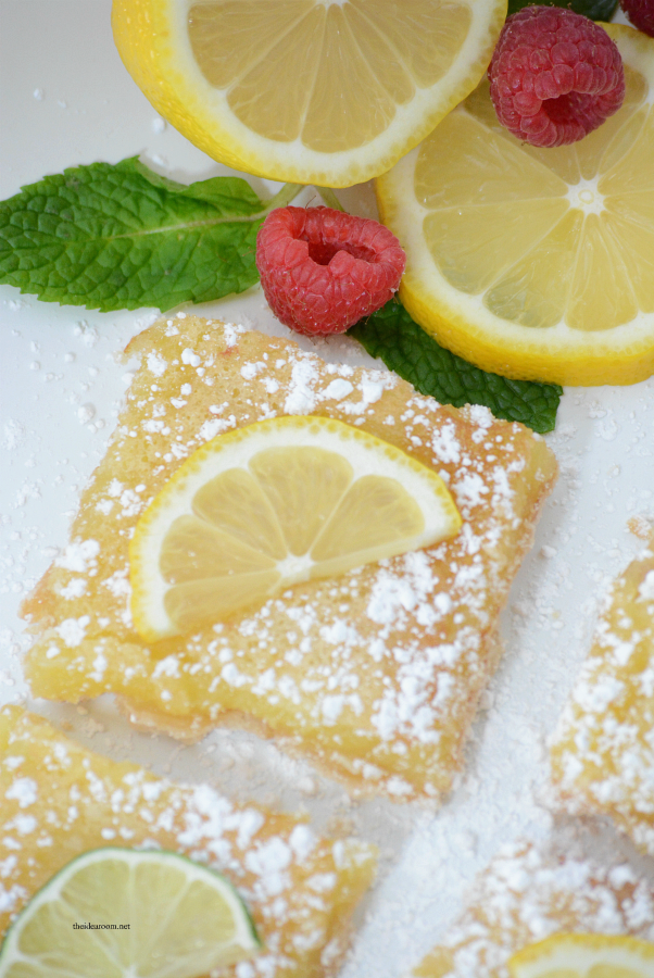 Cookie Recipes | These Lemon Bars are the perfect Spring or Summer treat. Tangy and delicious, the best lemon bar recipe we have tried.